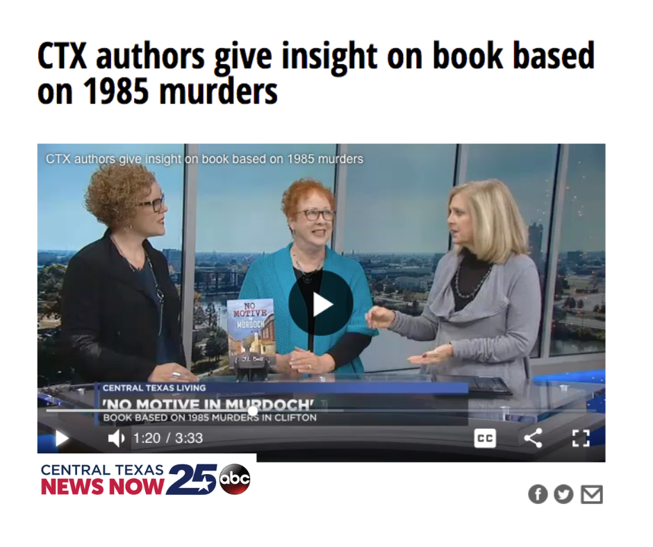 CTX Authors Give Insight on Book Based on 1985 Murders - KXXV Waco