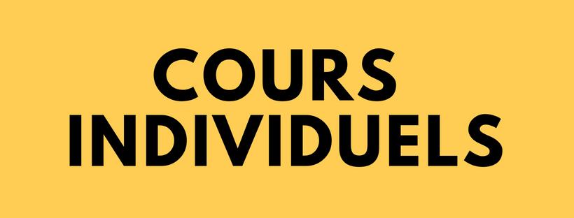 Cours individuels - 1 séance : 75 euros5 séances : 360 euros10 séances : 620 euros Séance d'essai : 20 euros