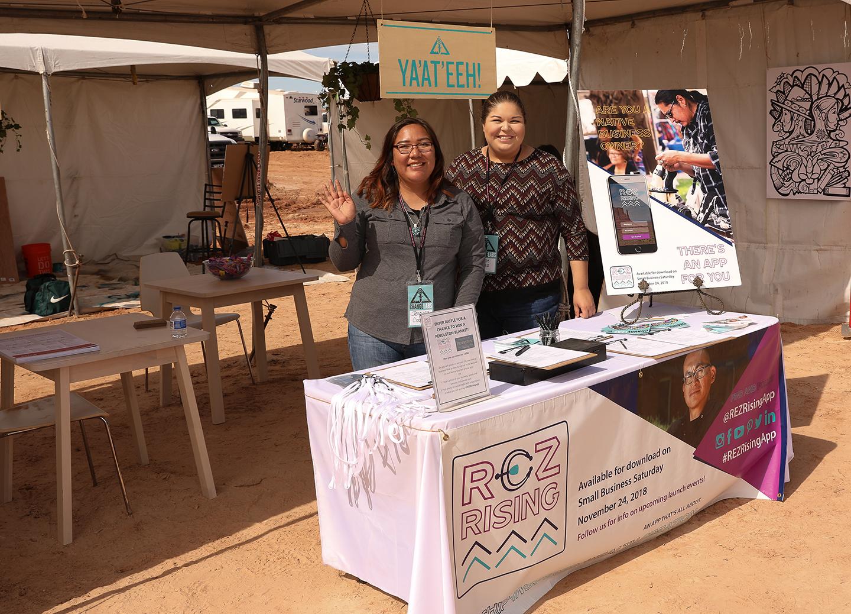 Recruiting entrepreneurs at the 2019 Western Agency Navajo Fair