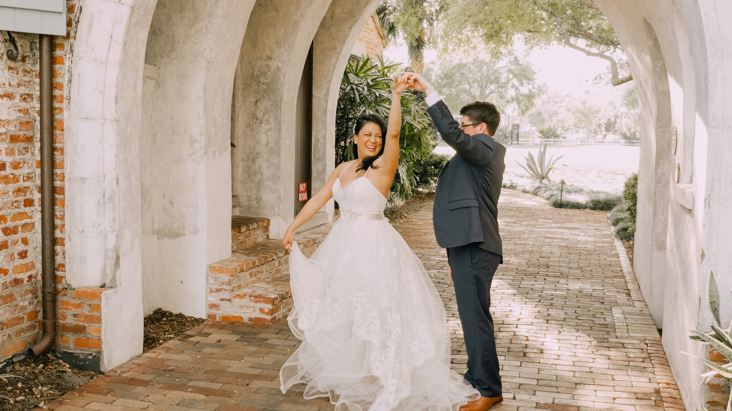 LEE + MABEL - The wedding of Lee and Mabel, captured at Casa Feliz in Winter Park, FL.