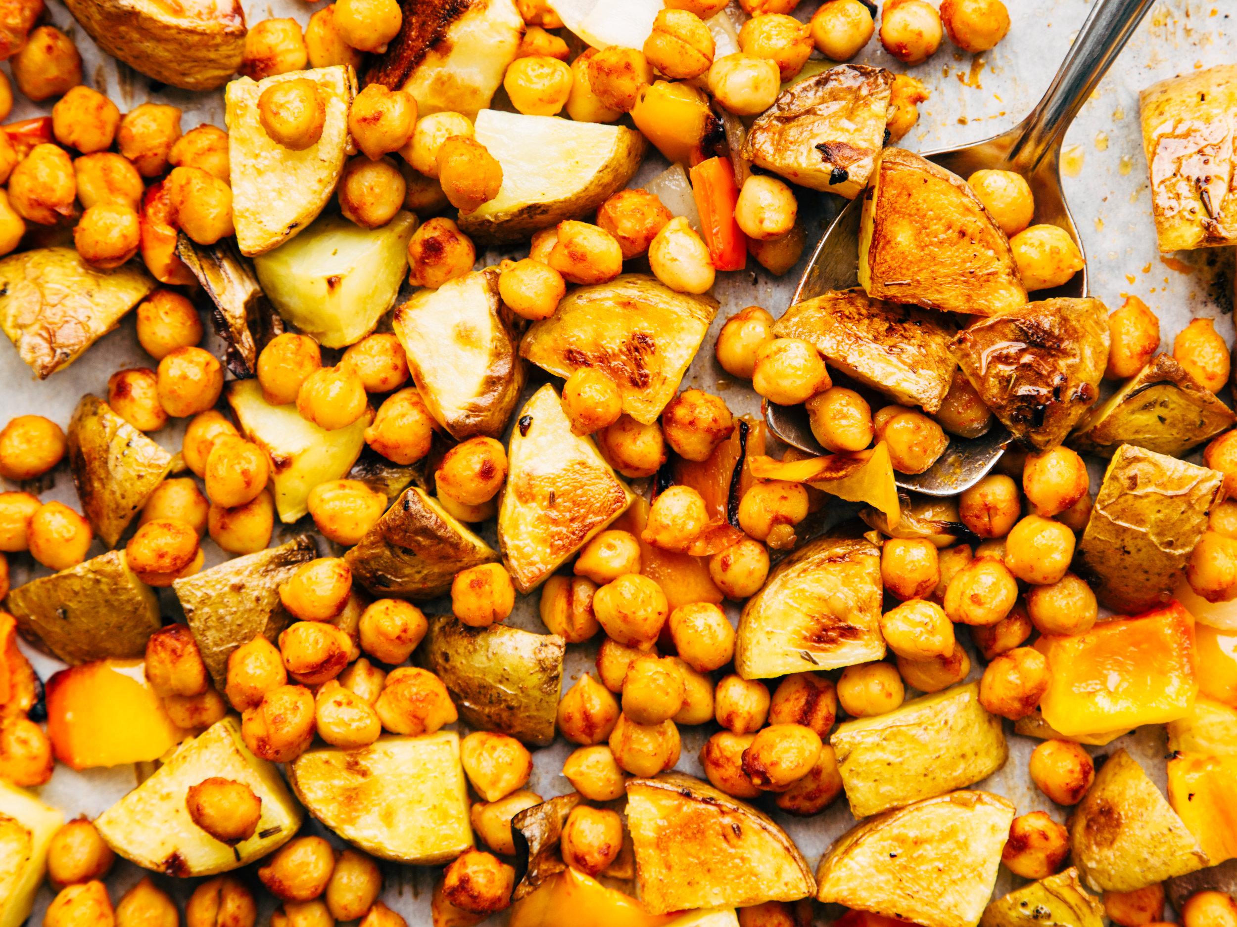 potato + smoky chickpea bowls