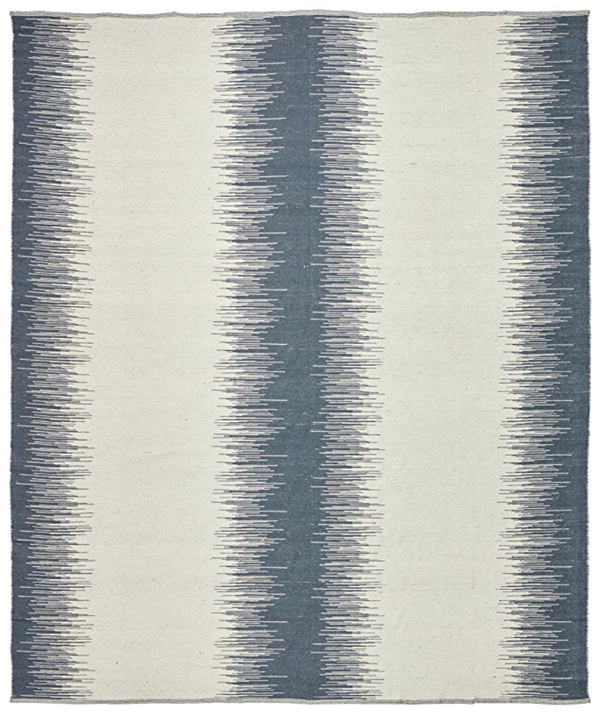 Rivet Abstract Wool Rug Is the perfect Blue! (Also comes in Grey). Awesome price for a super durable wool rug.