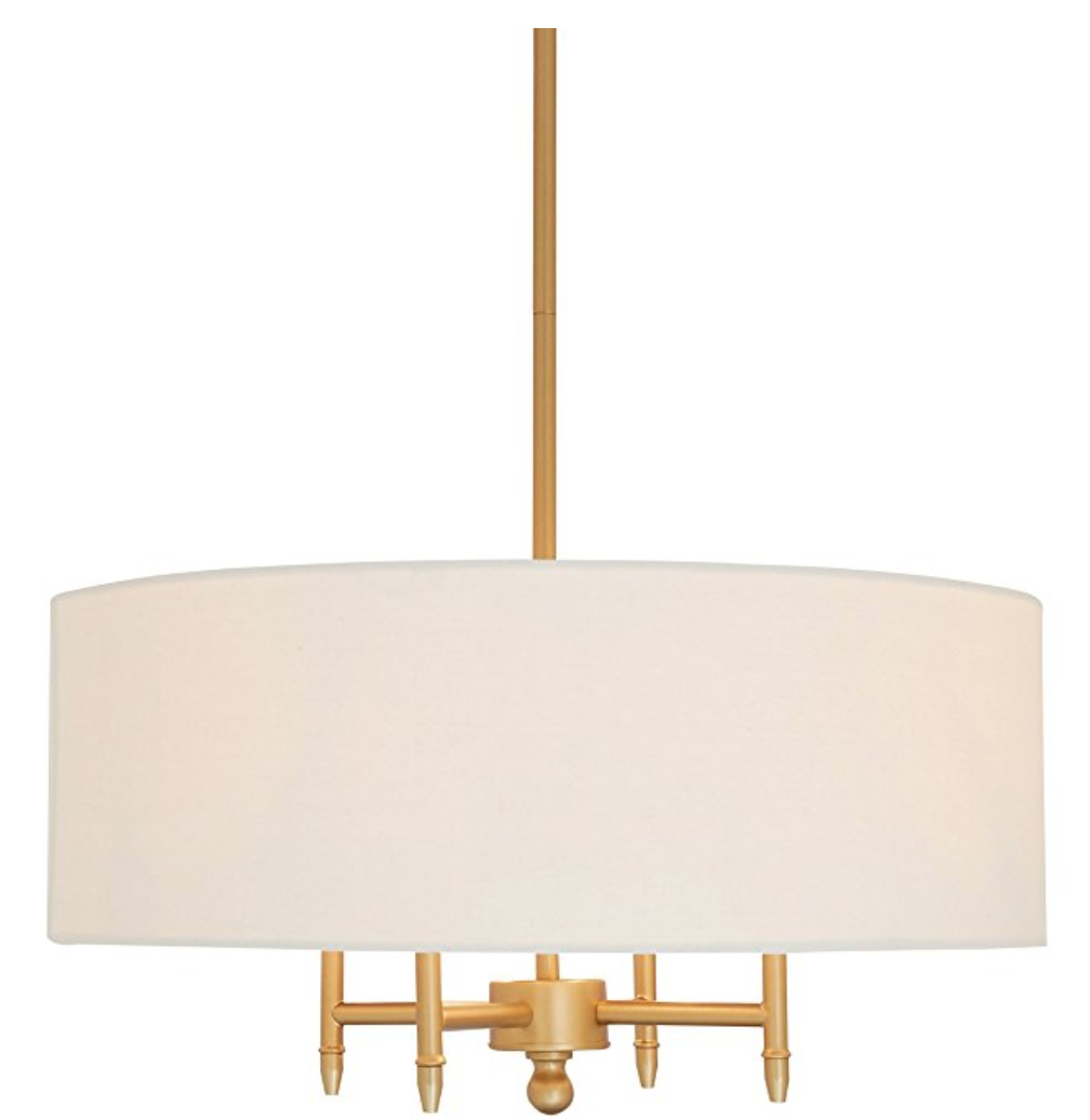 Four Light Chandelier    OK --- I feel like if you are looking for an easy way to update your space, you NEED this chandelier that is a great size and shape- and LESS THAN $100!!!