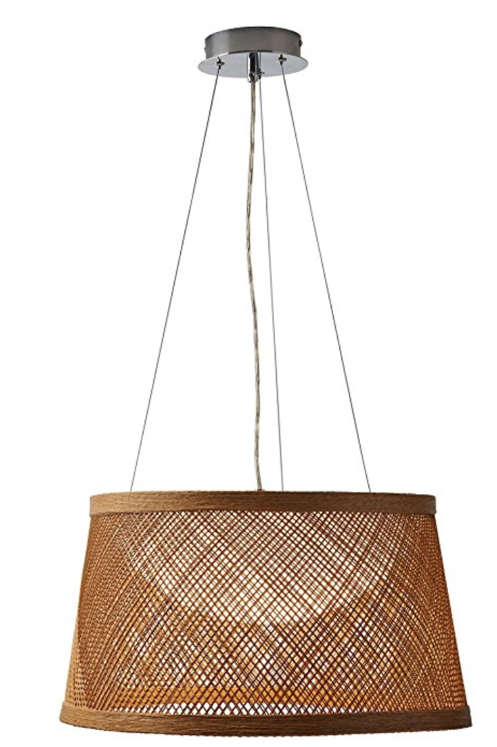 Raffia Pendant:  Natural/ Woven Chandeliers have be all over the place lately... and for good reason. These are a staple. This one is top on my list to replace a dated fixture over my casual kitchen table. This is a STEAL.