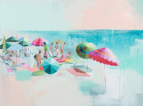 Teil Duncan - Widely known for her vibrant beach schenes, this Charleston artist has a strong following, and for good reason! She releases original collections that sell out in minutes - but if you love the look, you can snag some prints here or on her site. We have the beach scenes, and a nude will be framed soon for a bathroom renovation!