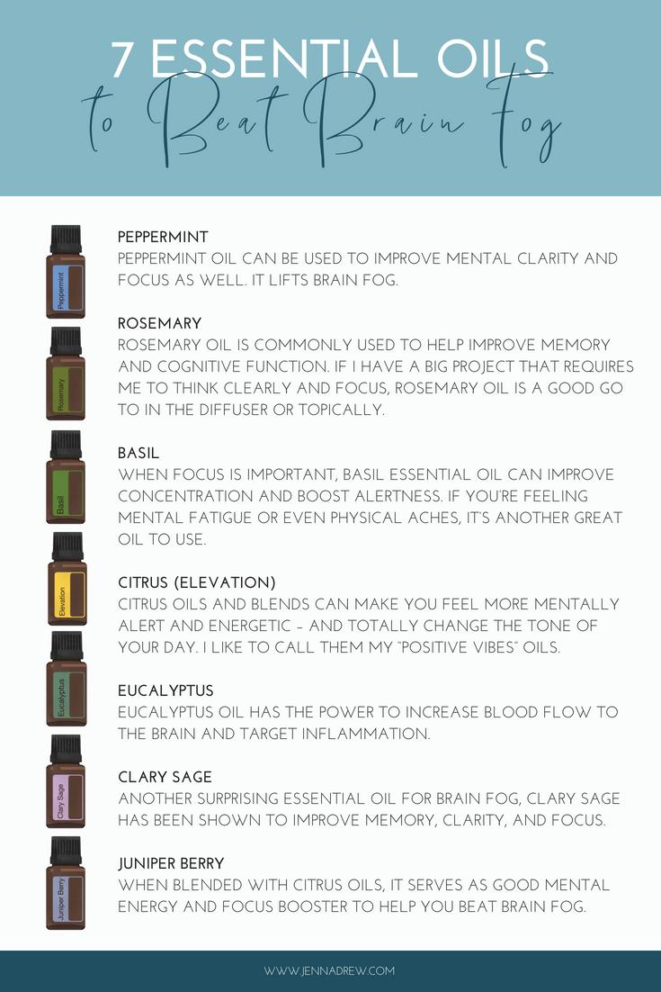7 Essential Oils for Brain Fog