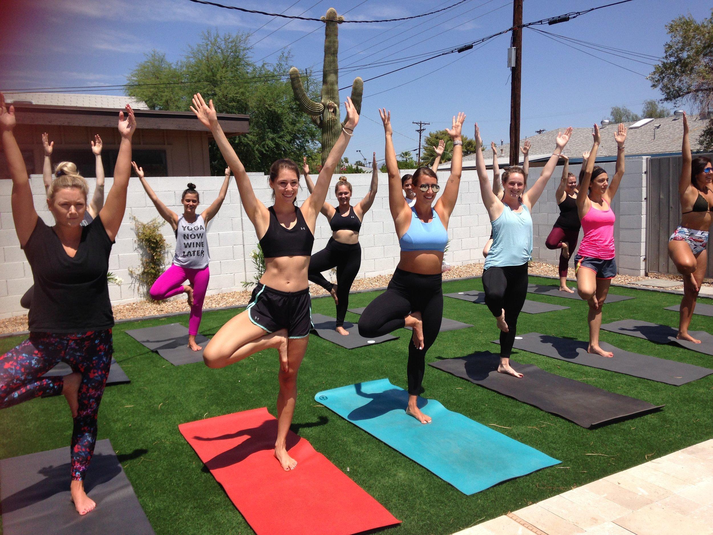 Bachelorette Yoga.