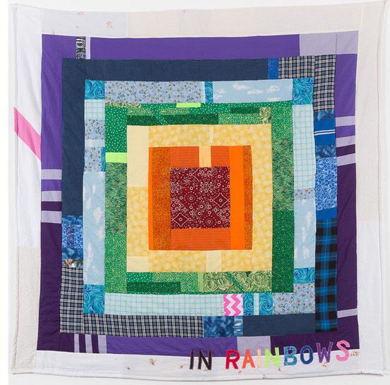 "In Rainbows , Joey Veltkamp - 68""x68"" - Fabric, thread, batting - $500 starting bid"
