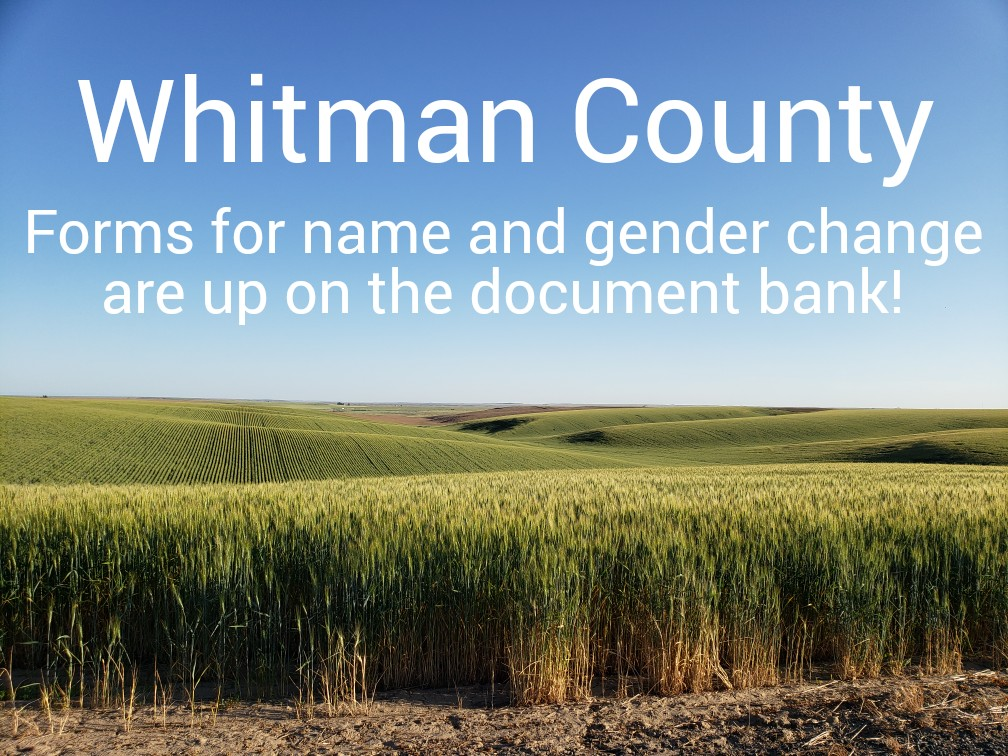 Hey folks in Pullman (and other parts of Whitman County)- we got all the forms up for your county on the document bank! Click on the linked image to go to the Whitman forms site. Want TARP to come out to Pullman to host an event-get in touch, we would be happy to! - You can also find Jefferson and Thurston County forms there too!