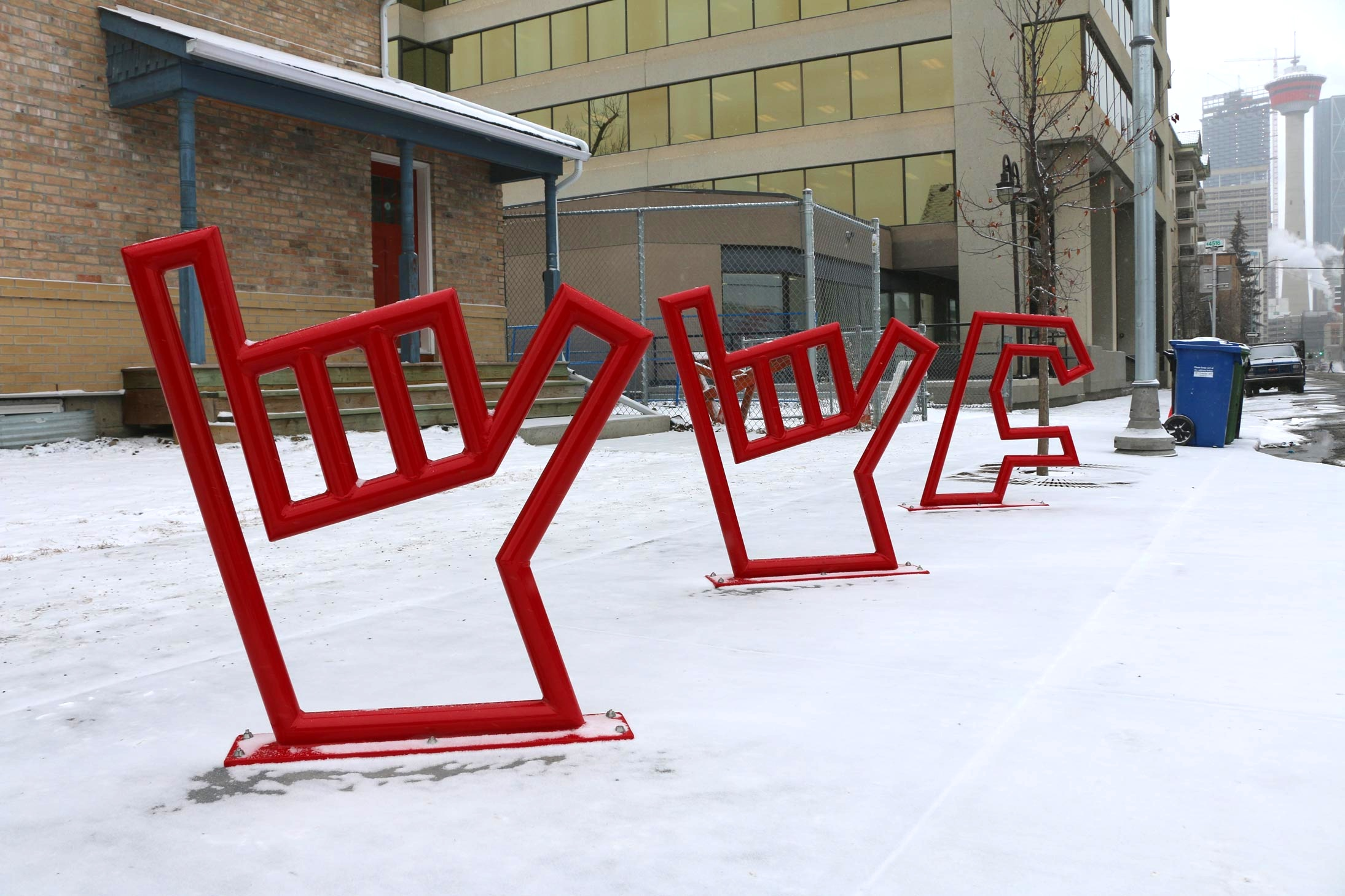 YYC bike rack 17 Ave and Centre St SW