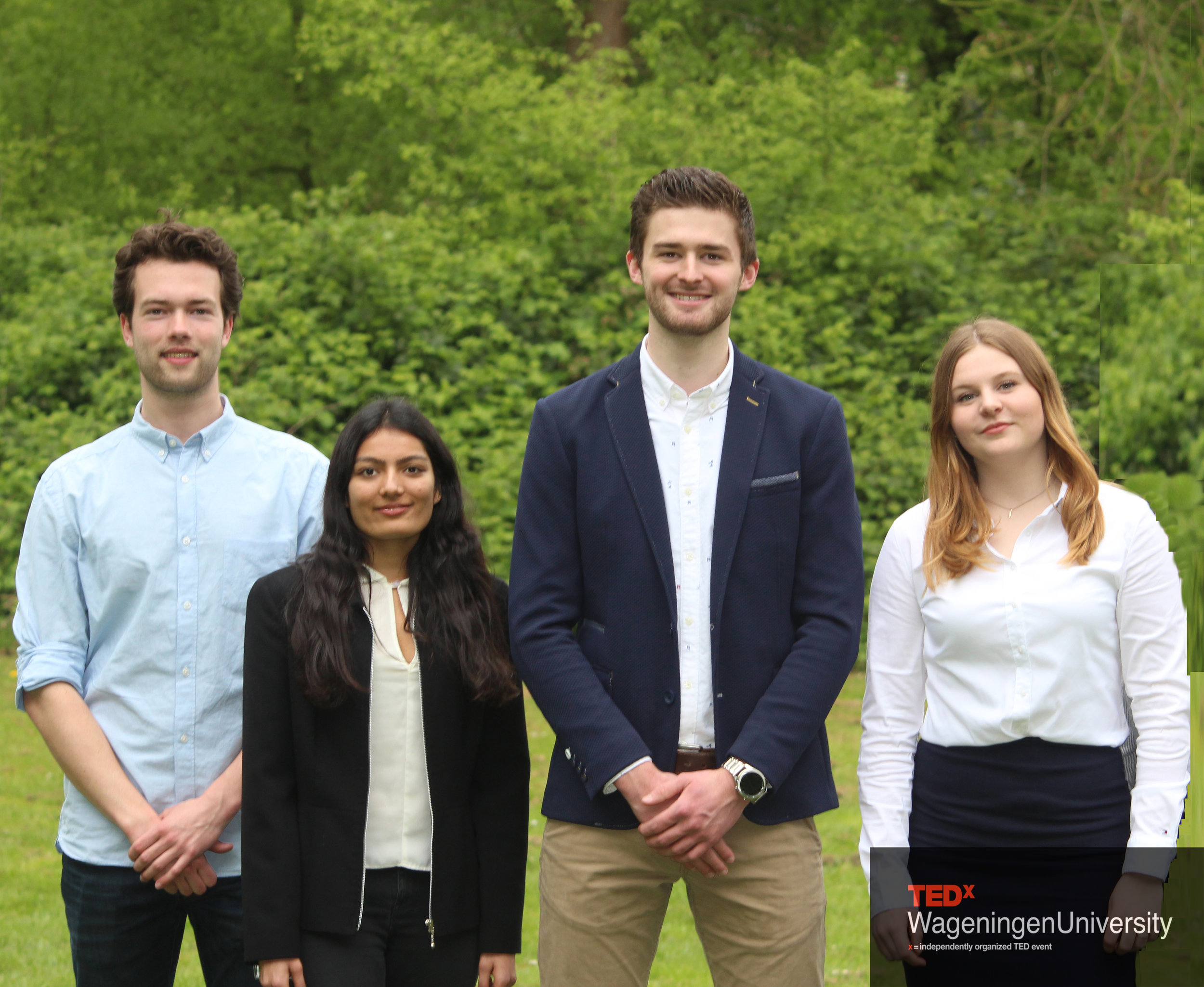 Acquisition - The team is lead by Johan Aarnoudse, and supported by Janique Groenenberg, Tanvi Taparia and Wessel van Winden. Making the event possible in financial terms is our responsibility. We are determined to find the best fitting partners for all our events and make sure that everyone connected to TEDx Wageningen University will benefit optimally. We hope anyone involved in our events can have a great experience, no matter you are partners, speakers attendants, or others supporting us! We also hope TEDx Wageningen University to become a well-known event in the Netherlands, something to look forward to for many years to come!