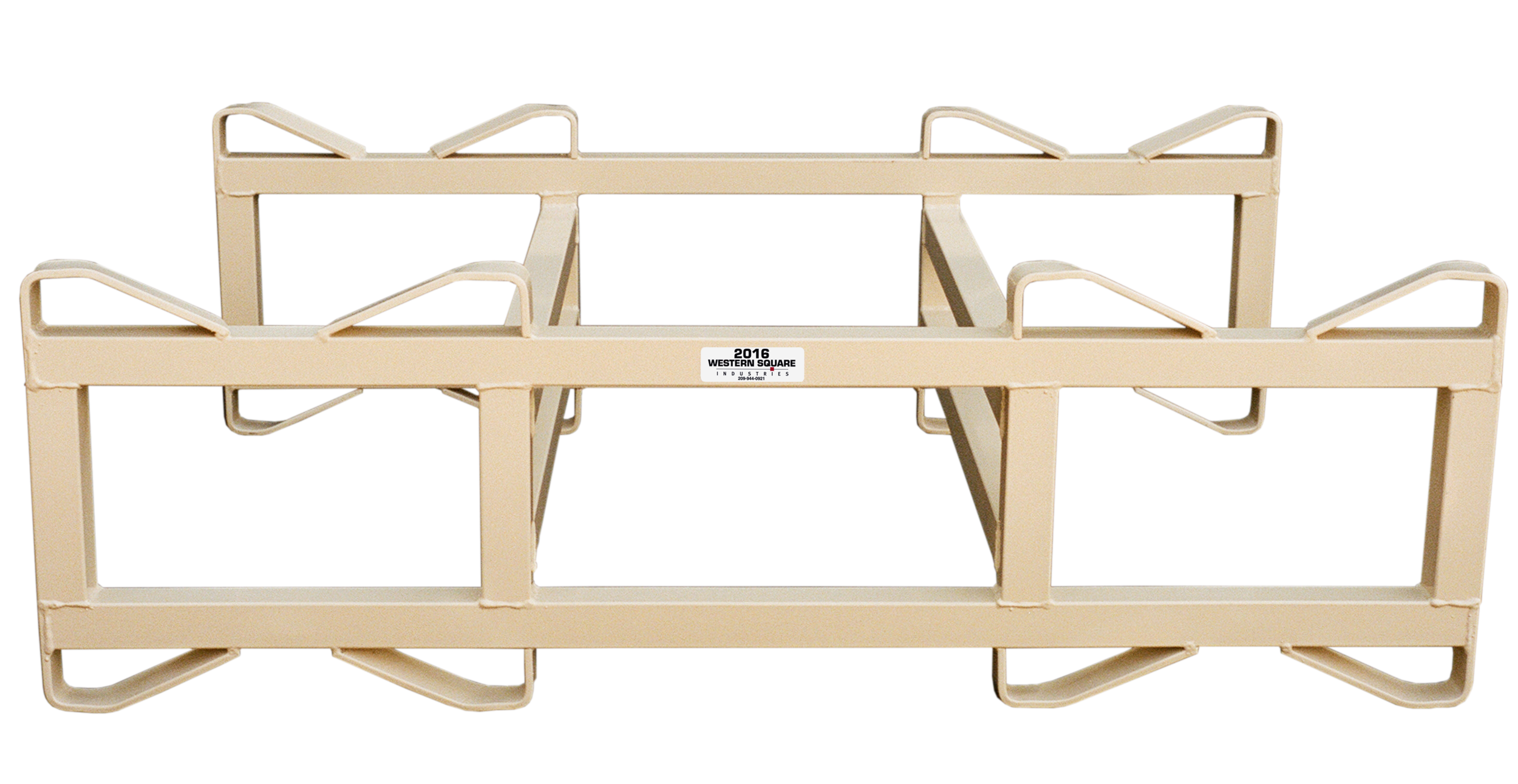 "7"" Double Bar, 2 barrel rack"