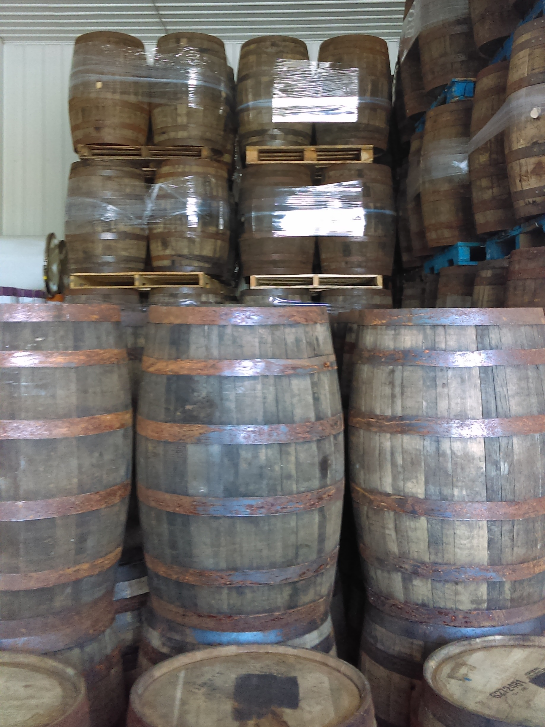 """Used Whiskey Barrels - 40"""" Height x 20"""" DiameterStarting at $40 eachSold as-is.(Dimensions vary based on cooperage)"""