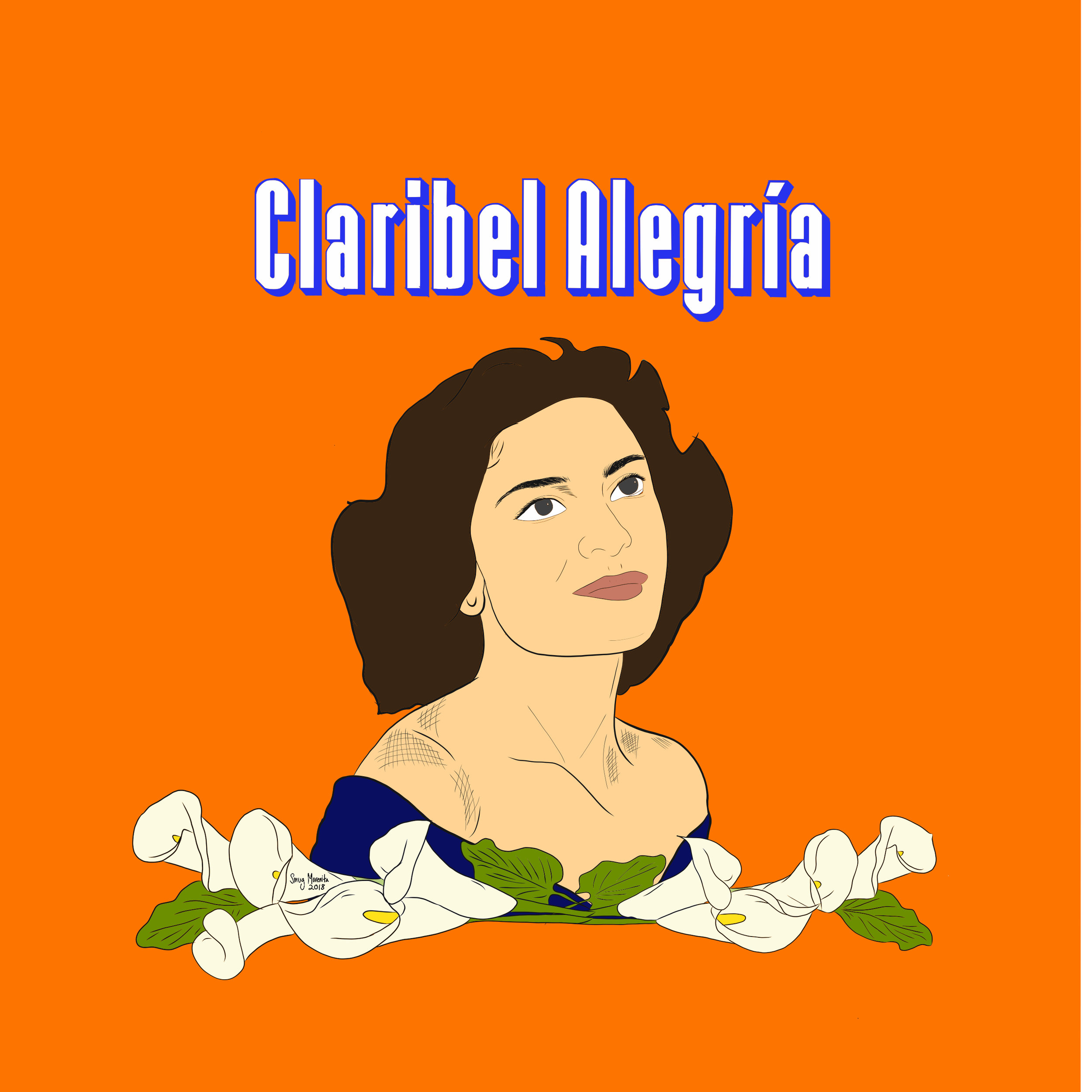 Claribel Isabel Alegría Vides, (May 12, 1924 - Jan. 25, 2018) also known by her pseudonym Claribel Alegría was a Nicaraguan-Salvadoran poet,essayist, journalism & novelist!! She's a fixture of contemporary Central American literature.  Born in Estelí, Nicaragua, she grew up in Santa Ana, El Salvador where her mother was from after her father was sent into exile for protesting human rights violations during the U.S. occupation of Nicaragua. In 1943 she moved to the U.S. & in 1948 graduated with a B.A. from  @gwuniversity . She returned to Nicaragua in 1985 to aide in the reconstruction of 🇳🇮. She was in love with Nicaragua & left her 💛 in El Salvador. Took inspo from Cola Champagne to honor her Salvi roots & my early childhood memories.