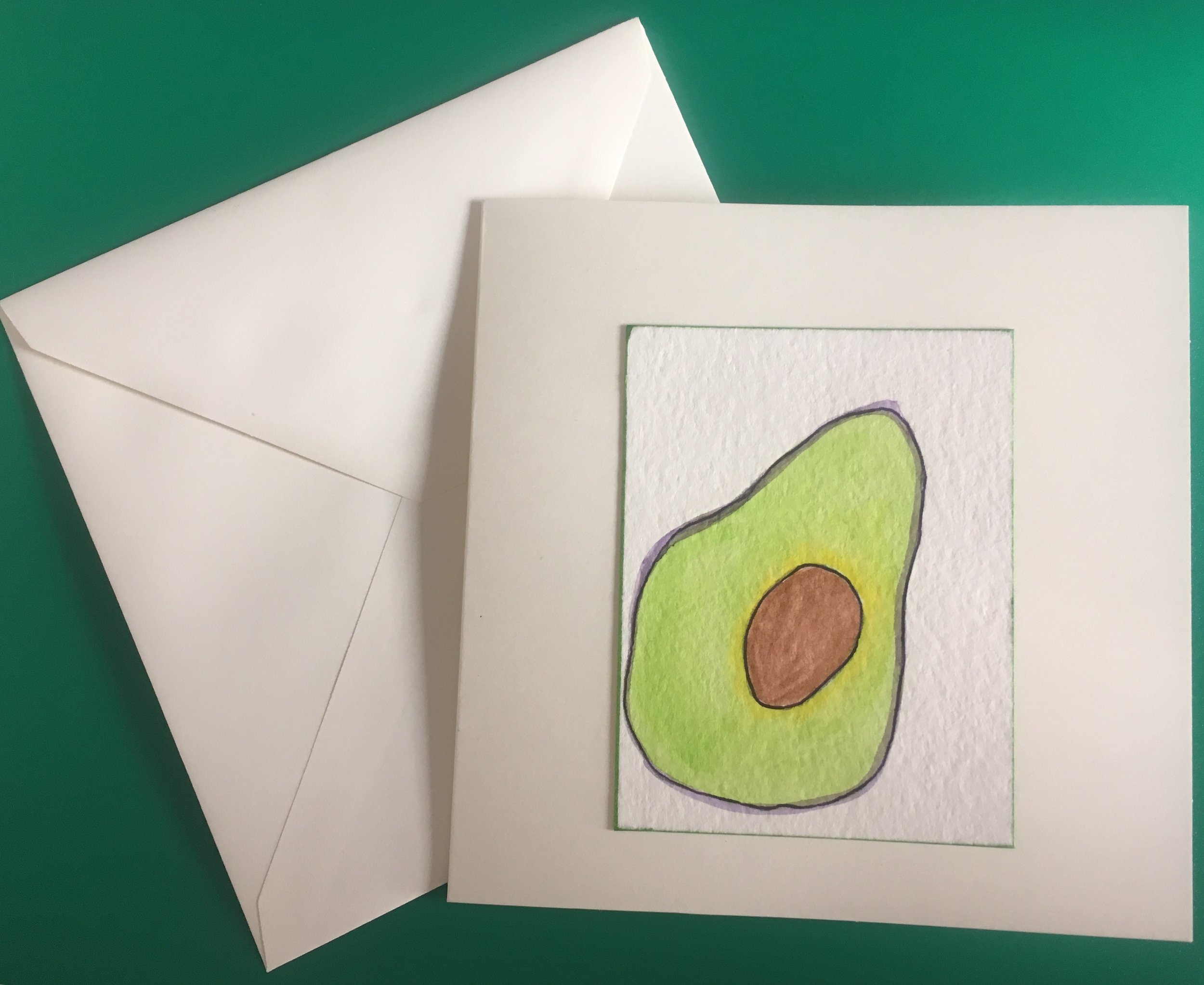 Here's a card I made - Wabi Sabi Avo.