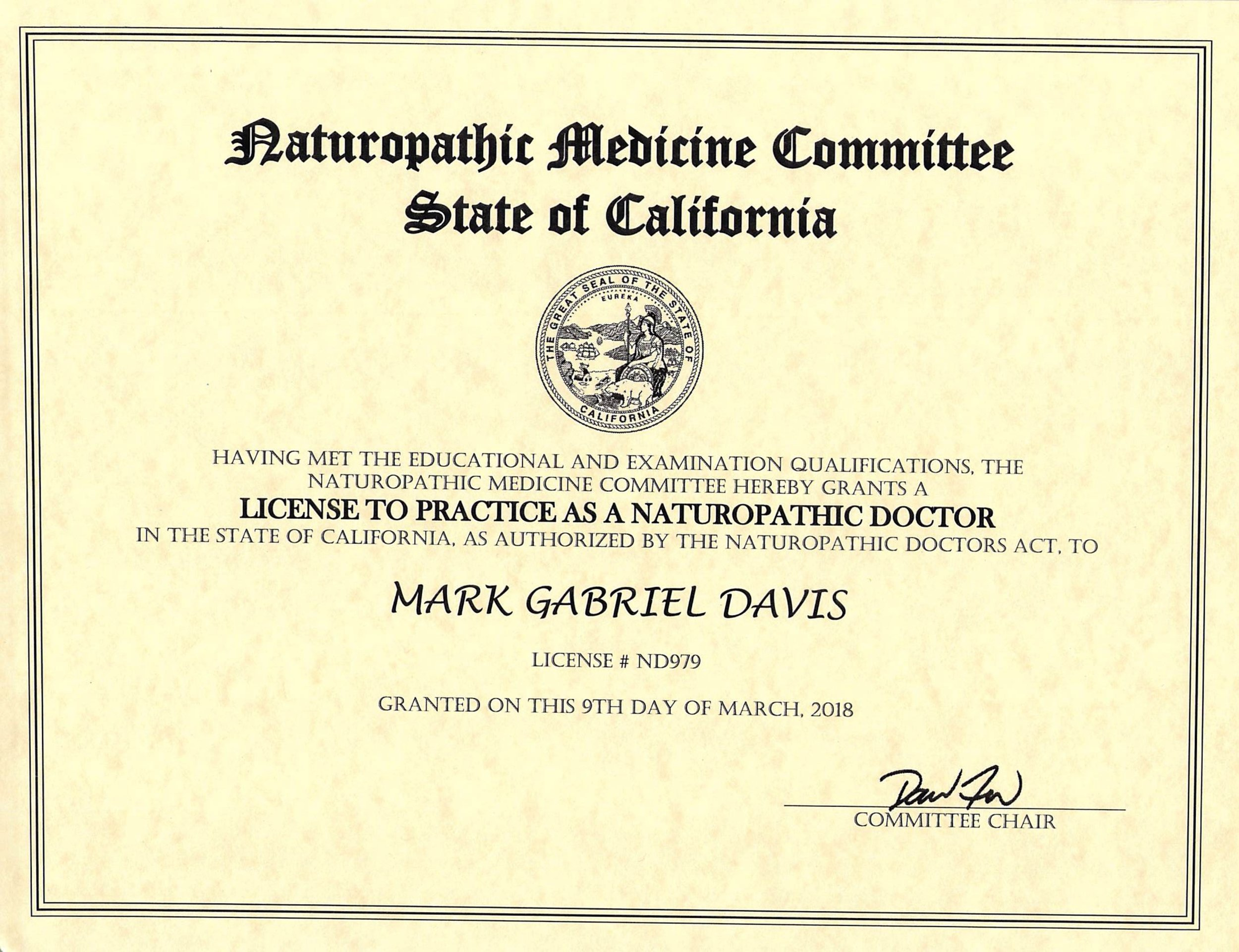 Mark Davis ND California license 2018-2020.jpg