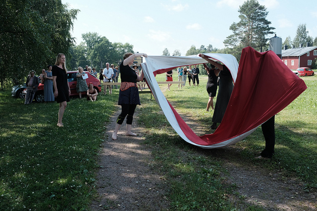 International Performance Art Workshop 2018, Open Sessions public event at Art Center Antares, Photo Antti Ahonen