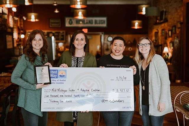 "United Way was honored to provide a Matching Grant challenge to the Mid Michigan Foster and Adoptive Coalition in part of their new event ""Fostering Love"" this past Valentine's Day. Supporters contributed $2,963 and United Way maximized those donations by matching it, resulting in a successful $5,927.12 Matching Grant! Congratulations, Mid Michigan Foster and Adoptive Coalition!"