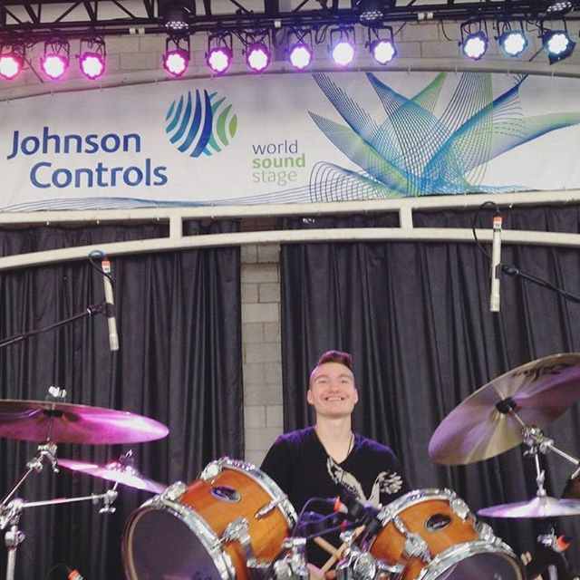 Happy birthday to our beloved drummer, background vocalist, and sometimes pianist! #wearealladultshere #localmusic #drums #summerfest #happybirthday