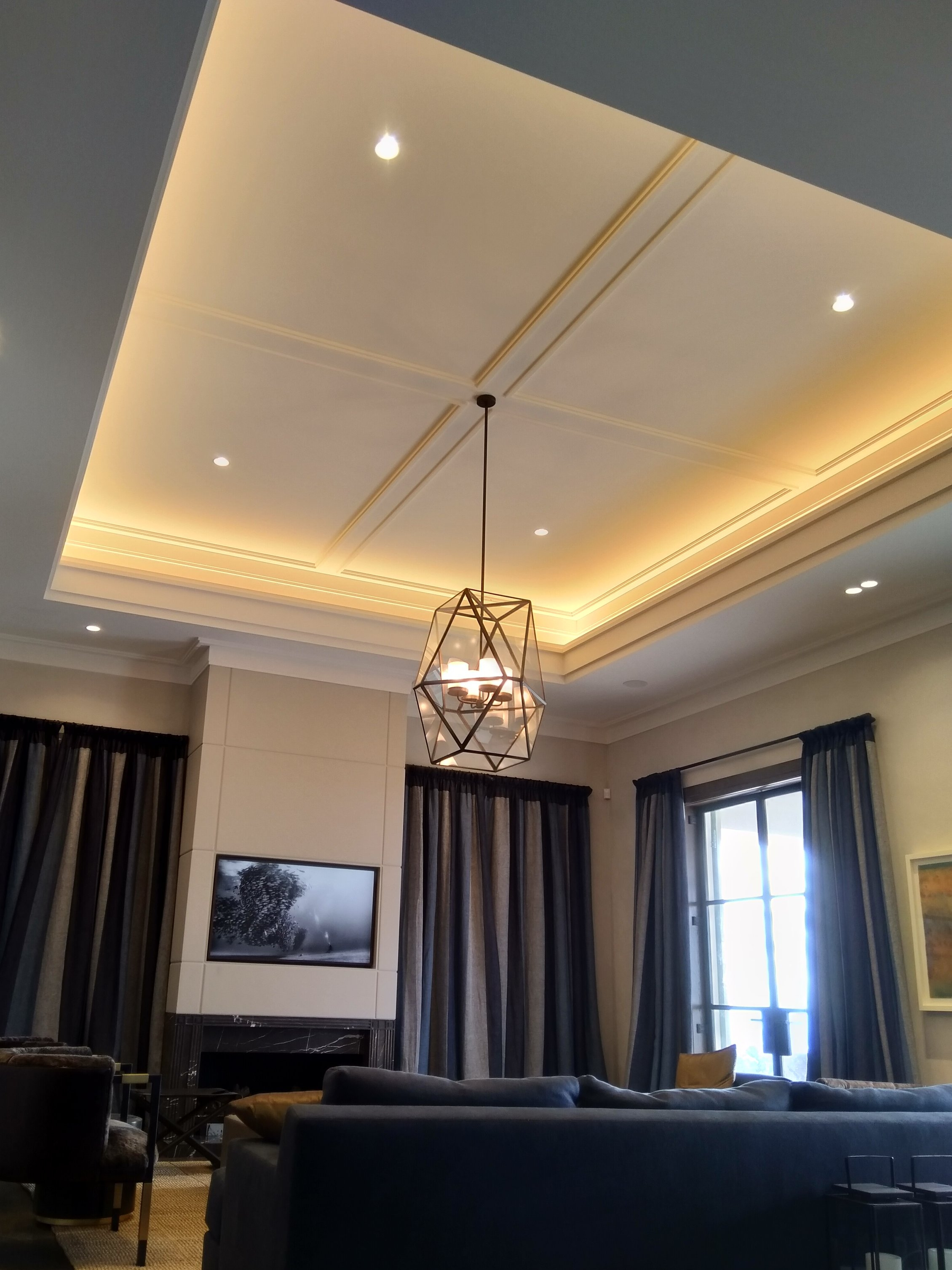 Indirect LED up-lighting and pendant