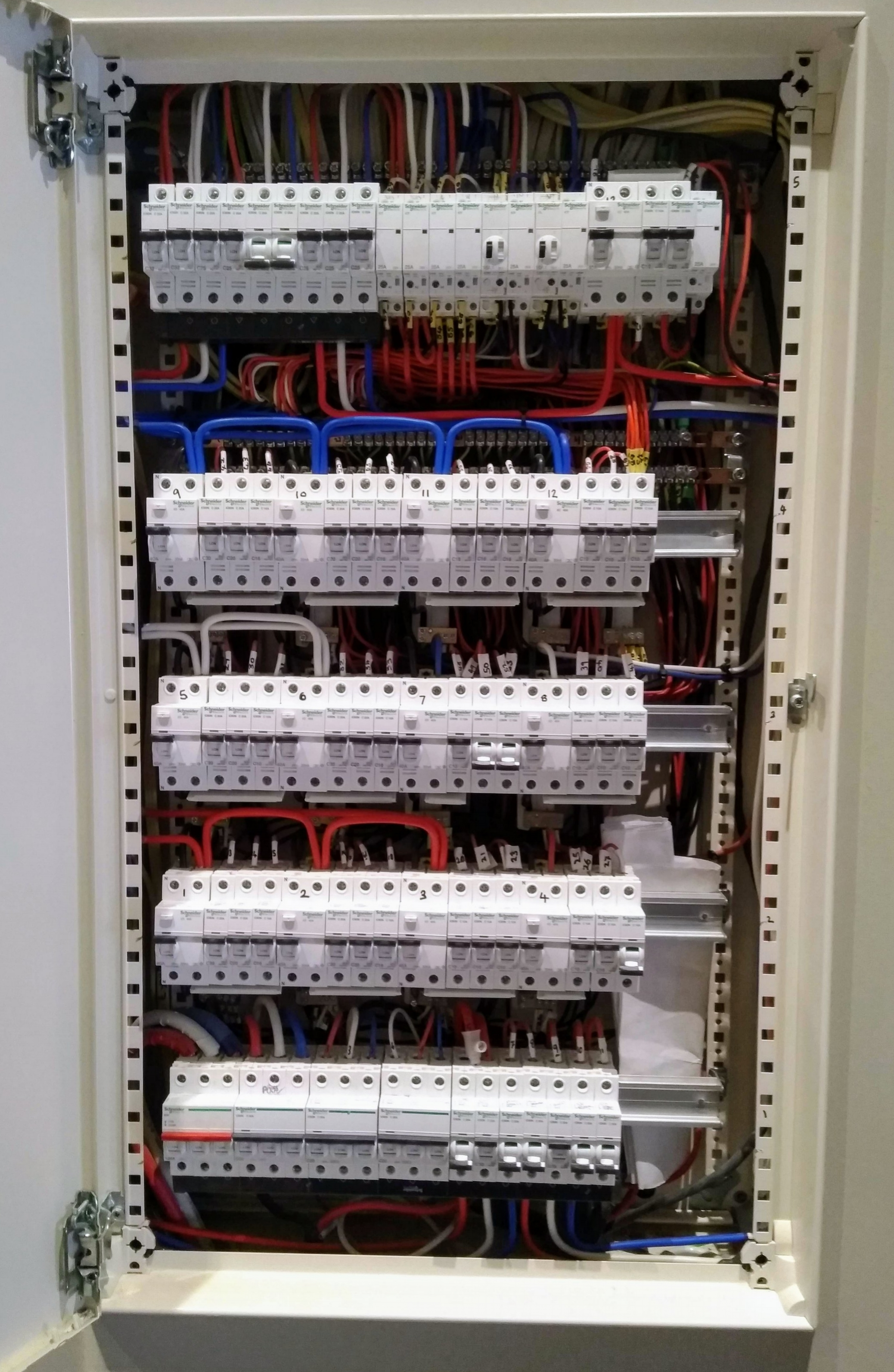 Very large domestic switchboard installed by Adam