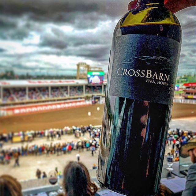 Looking back at a great weekend pouring CrossBarn wines at the Calgary Stampede #tbt