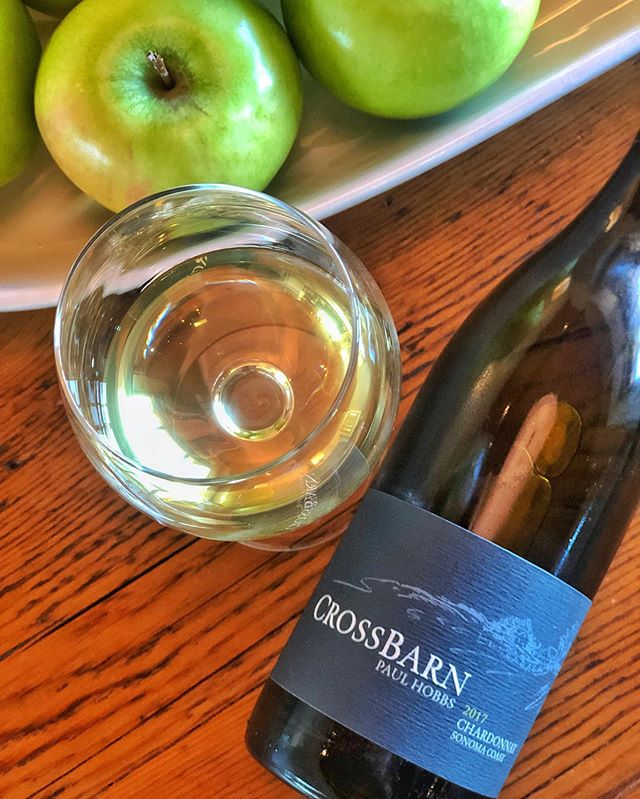 Toasting to the weekend (and the start of Gravenstein apple season) with a crisp and refreshing glass of 2017 Sonoma Coast Chardonnay