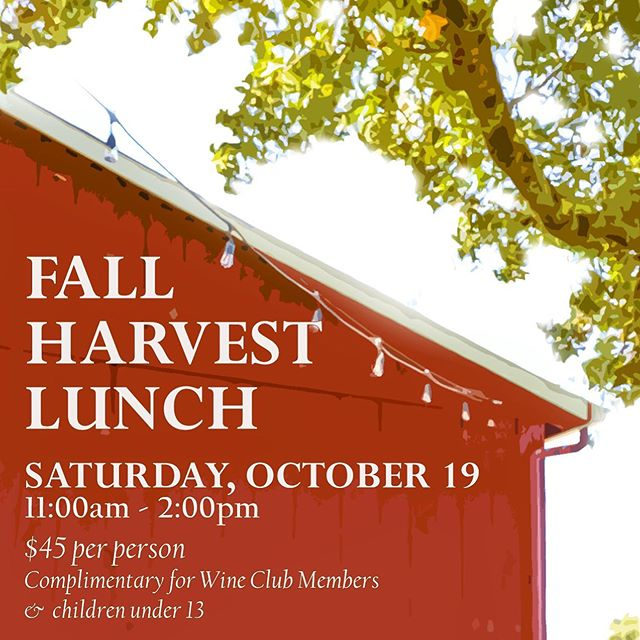 Bring the family and celebrate the harvest season with us on October 19 at our Fall Harvest Lunch at Feeney Ranch! Join us for an afternoon of delicious foods paired with the latest Crossbarn wines. Click on the link in bio more info and to purchase tickets. We hope to see you there! 🍷🍂#crossbarn #wineclub