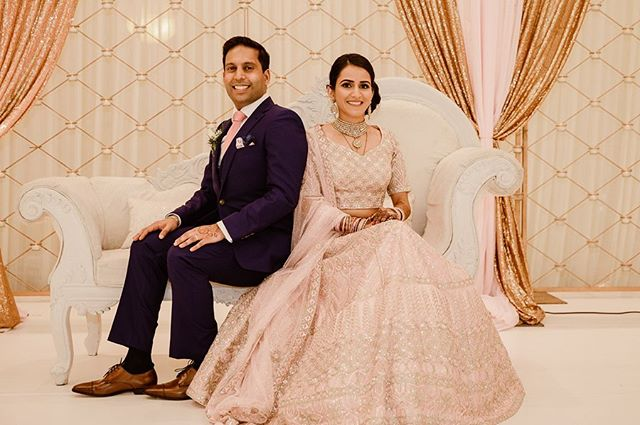Aren't they just perfect 😍😍😍 • • • This ones for Brinda & Anish! Seeing you together warmed our hearts. Congratulations on this new beginning and a perfect wedding 🌸💞🌸💞 • • • Planning: @pearlseventandco  Photography: @manishandsung Videography: @danielwardfilms  Catering: @moghulcaterers  Henna: @rangehenna_85  Decor: @rangoliweddings  DJ/Music/Light: @premierdjsusa @djambition  Photo-booth: @phillysnapbooth