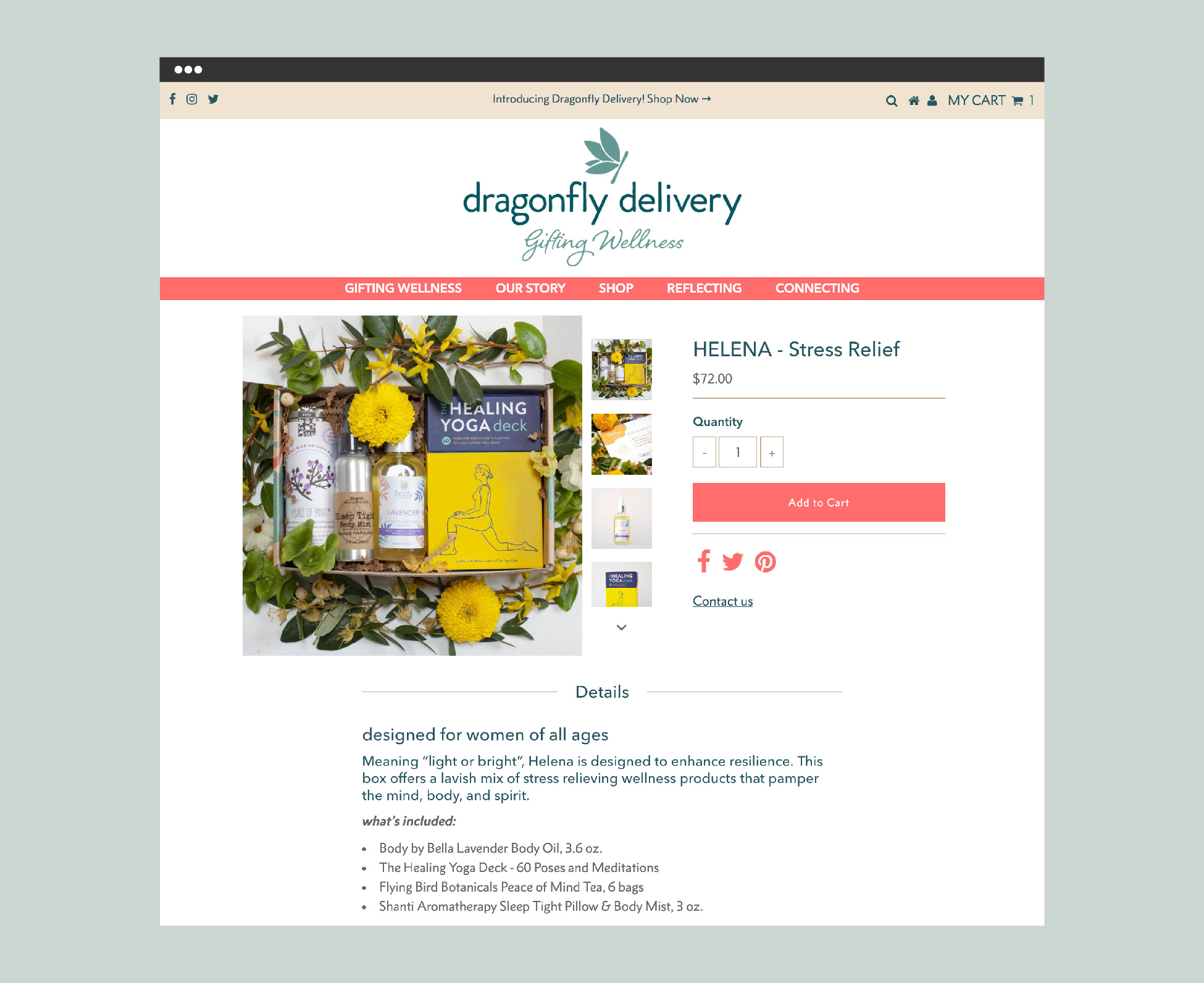Dragonfly Delivery Shopify Website ( dfdelivery.com ) Product Page Design