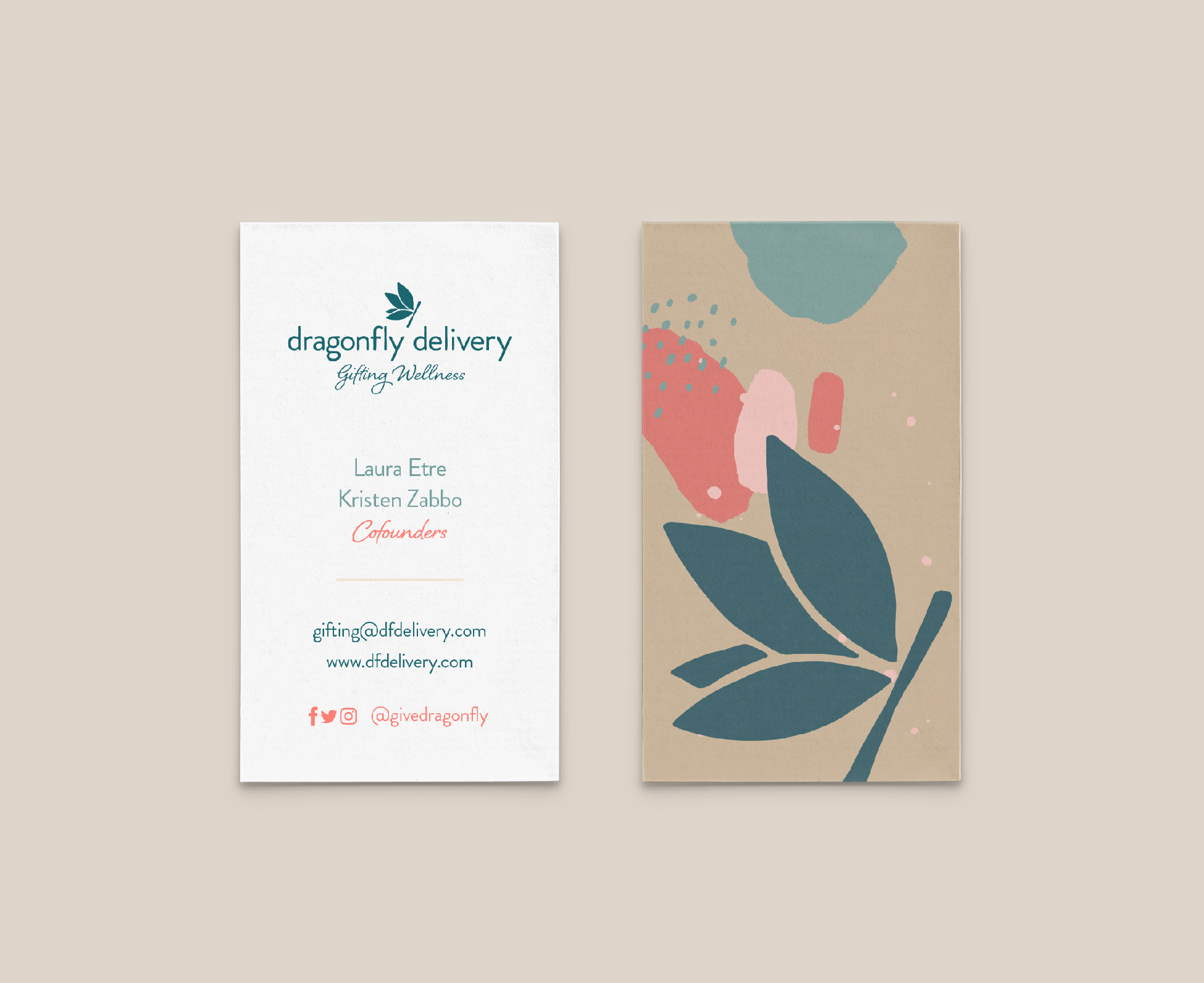 Dragonfly Delivery Business Card Design
