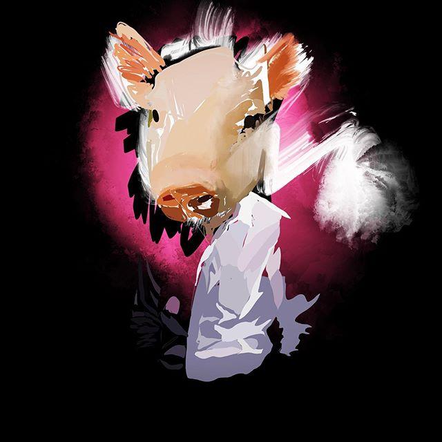 Pig #animationart #art #procreate #lasers #future #animalhead #bacon #drawing #ipad #thefutureisnow