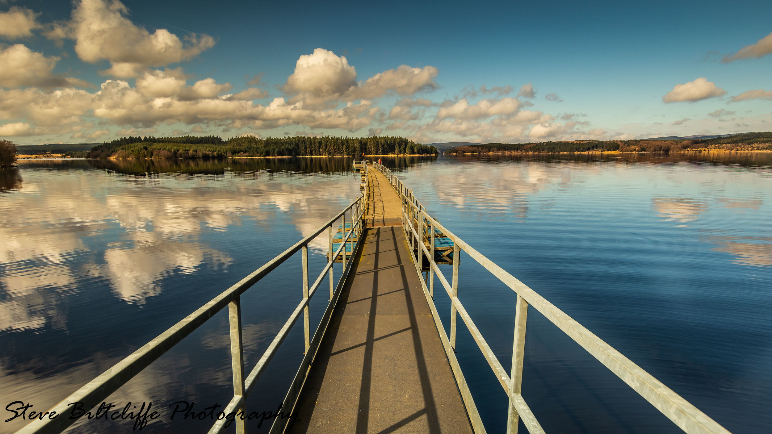 Kielder Water - Standing on the jetty at Tower Knowe Visitors Centre