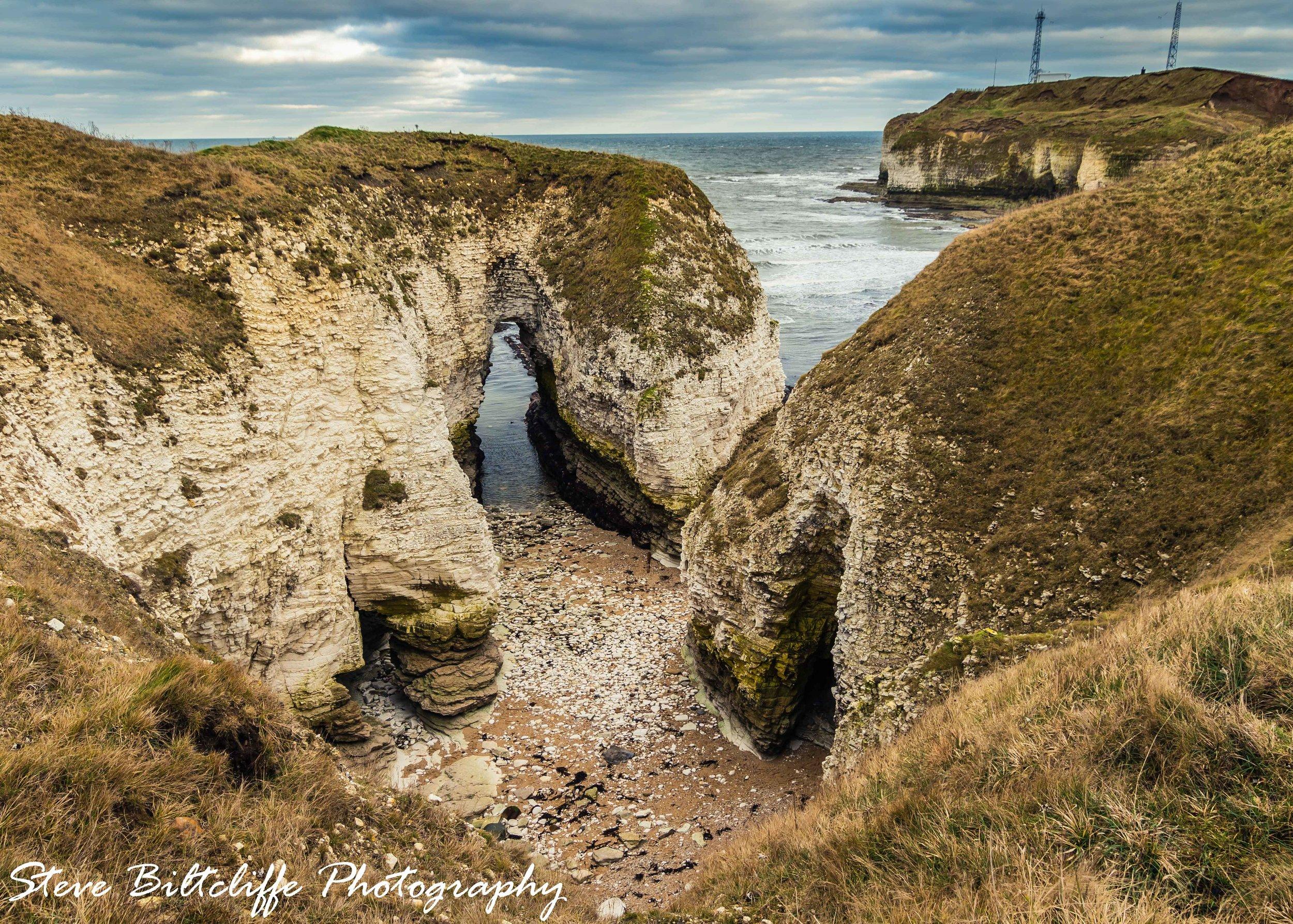 Smugglers caves at Selwicks Bay