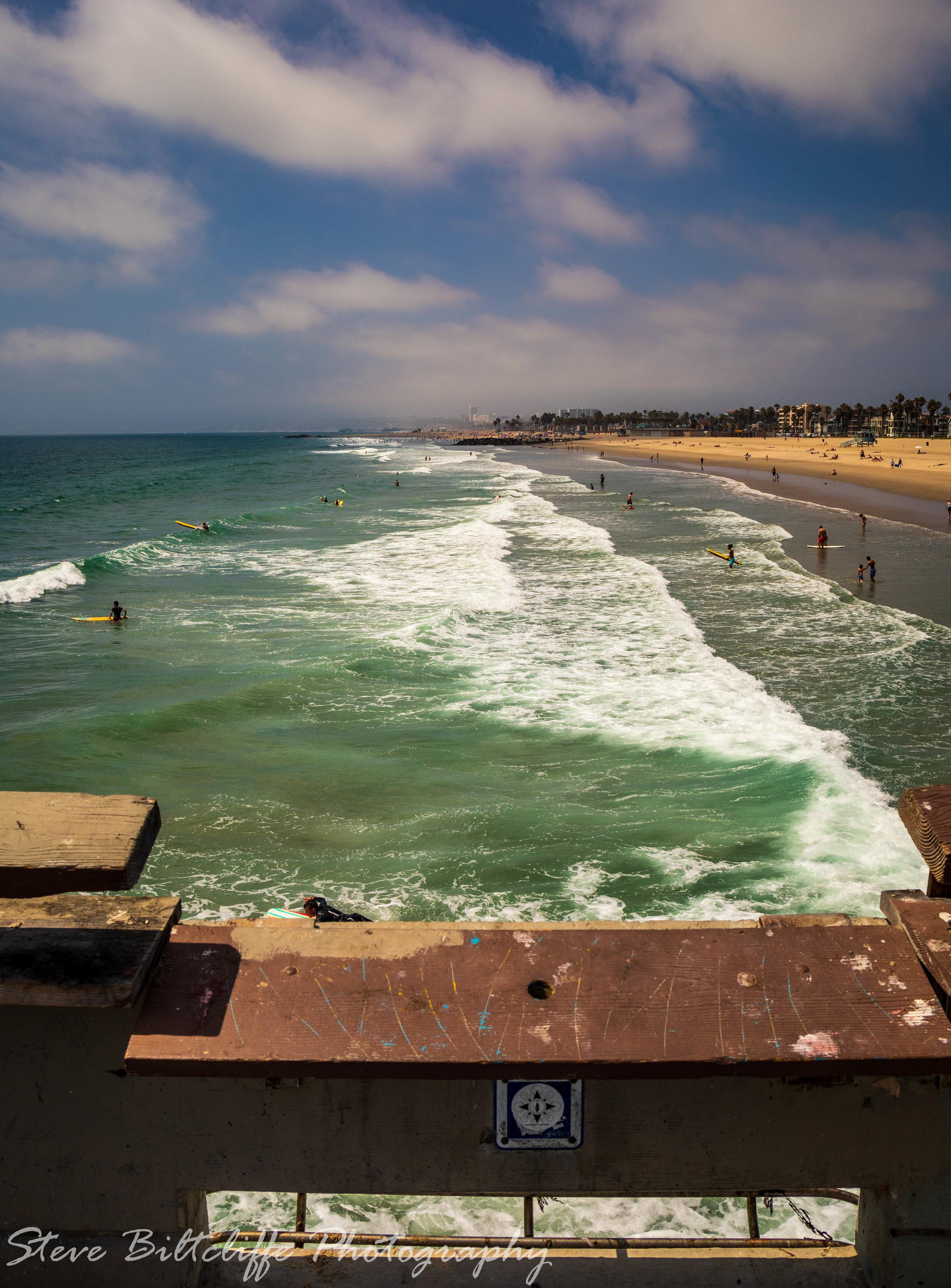 View down Santa Monica Beach
