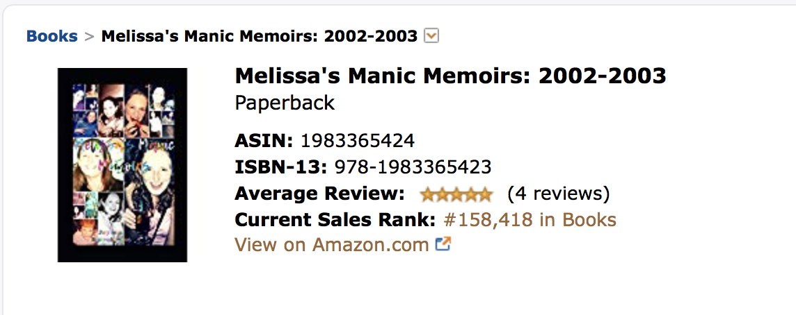 This is in all  overall  selling on Amazon in Paperback books. Out of 8 million books. 10 days in. Can we get to number 1 so I can find someone to maybe give me a contract? Editing is the worst for me.