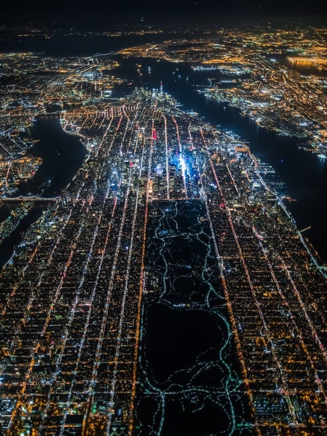 New York City captured from 7500 feet in the air, photography by Vincent Laforet.