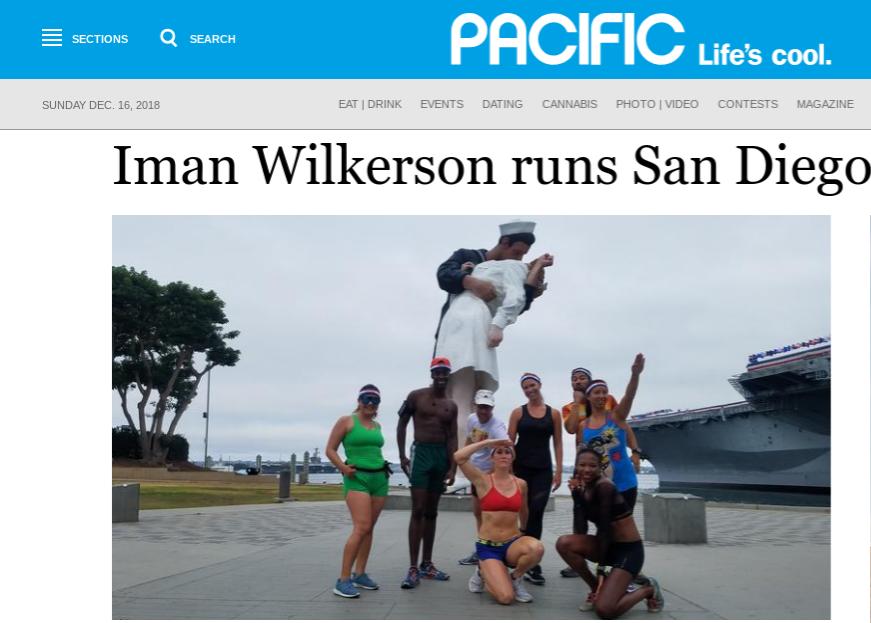 Pacific magazine Iman Runs San Diego