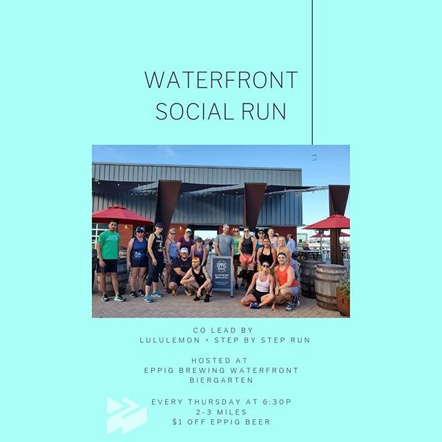 On Thursdays you can find Step By Step Run co-leading a group run with @lululemon Fashion Valley. We meet at 6:30p. Run a casual 2-3 miles along the San Diego harbor, where we take in the views and can be grateful that we live in a little pocket of perfect weather🌴🌞😎 Afterwards we wind down with a pint or two from @eppigbrewing. All paces are welcome! . . . #makeiteppig #sandiego #sandiegorunners #runsd #runsandiego #supportlocalbreweries #sdbeer #beerrun #grouprun #lululemon #lululemonrunclub #lululemonrunning #explorerunhavefun
