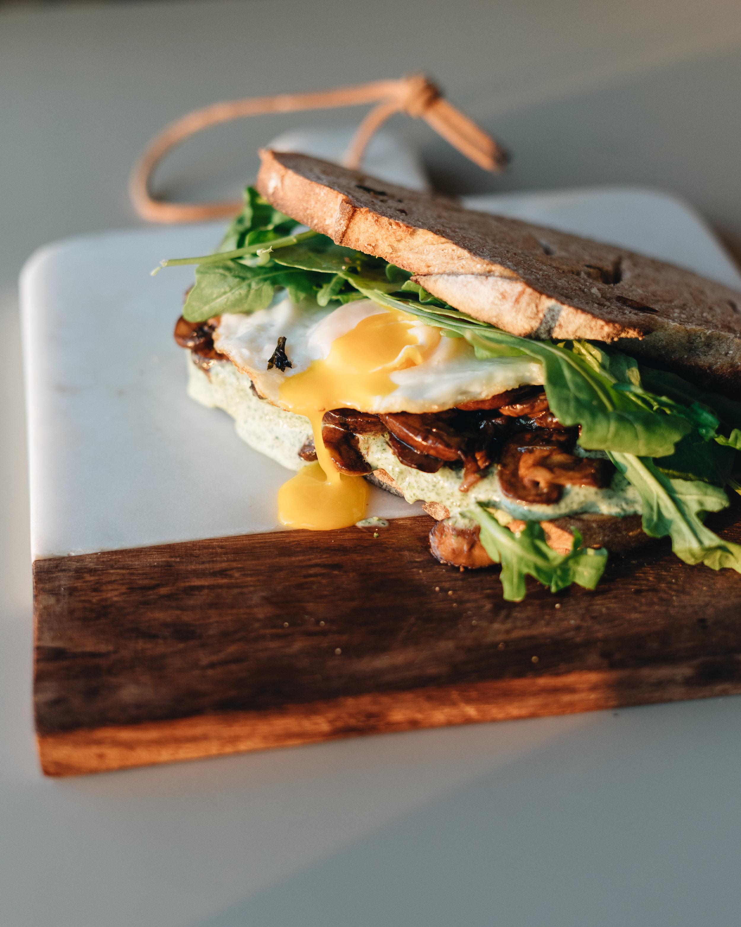 Balsamic Mushroom Egg Sandwich