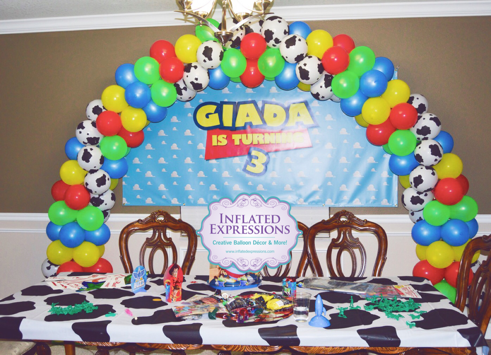Medium Sized Balloon Arch Inflated Expressions
