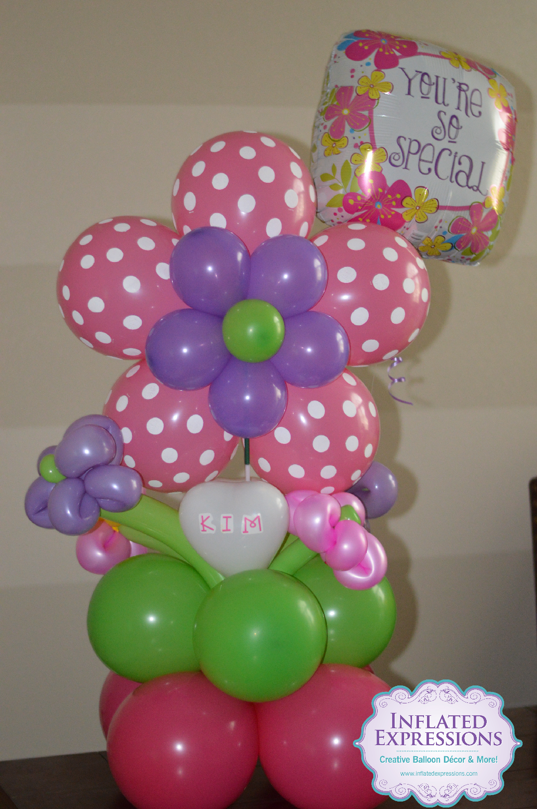 Happy Birthday Flower Balloon Bouquet Inflated Expressions