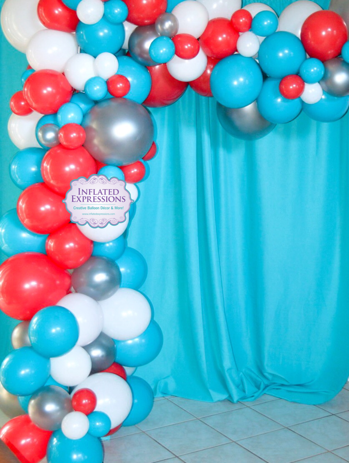 Small Organic Solid Latex Balloon Garland Swag Inflated Expressions