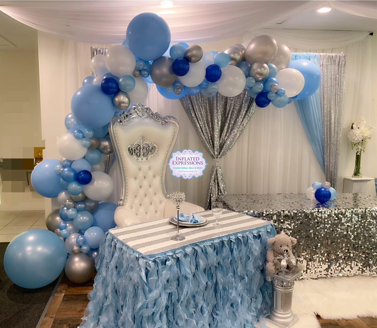 Extra Large Organic Garland Balloon Arch Inflated Expressions