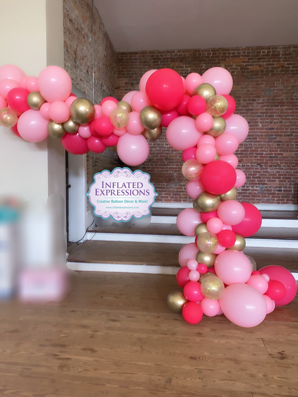 Medium Organic Solid Latex Balloon Garland Arch Inflated Expressions