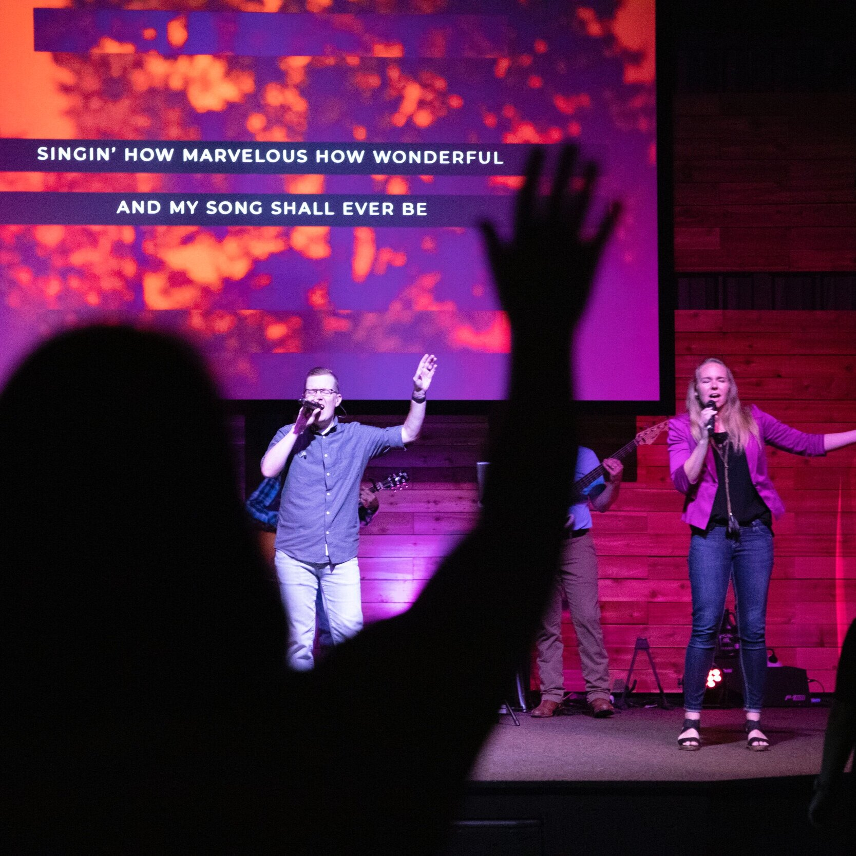 Worship Team - This team blazes a pathway for our guests to encounter the Living God. Vocally or instrumentally, the Worship Team allows everyone to use their gifts to serve God and others.