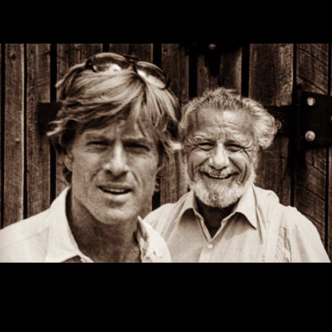 """Robert Redford and Frank Daniel. Looks like it's a bit after """"Butch Cassidy and Sundance Kid"""" days…"""