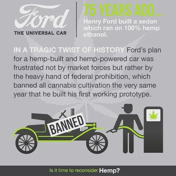 Consider Hemp!  #hempindustry #hemp #cbd #cars #ford #green #ecofriendly