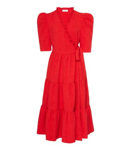 Ciara Tiered Wrap Dress