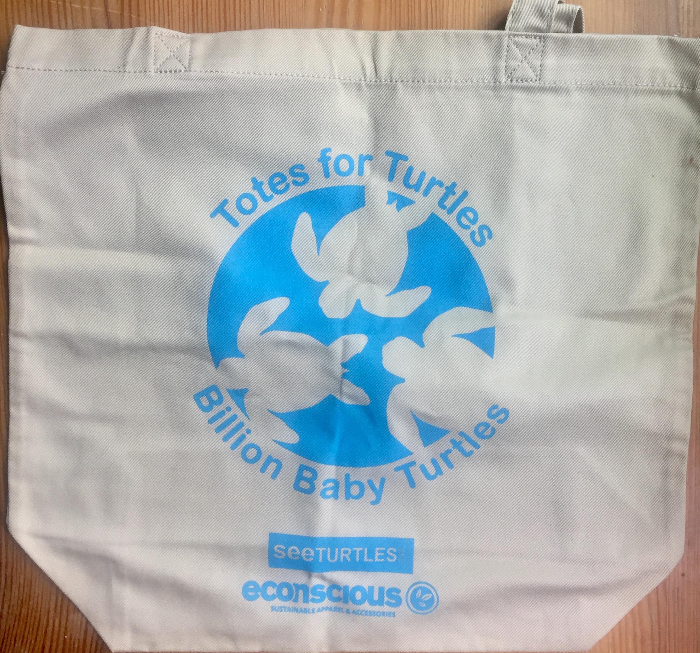 Billion Baby Turtles reusable shopping bag